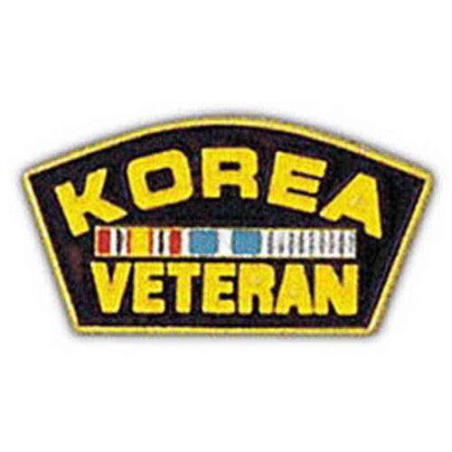 korea war veteran hat lapel pin