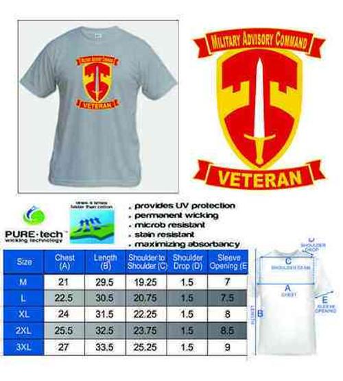army macv military assistance command veteran performance tshirt