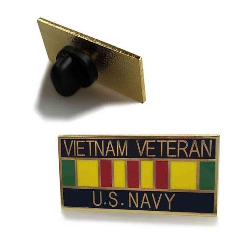 us navy vietnam veteran service ribbon hat lapel pin