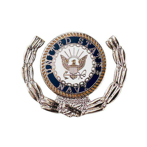 us navy eagle seal wreath pin