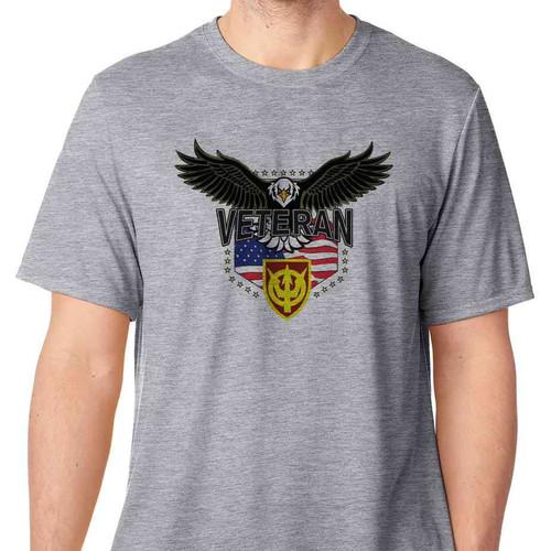 4th transportation command w eagle basic grey tshirt