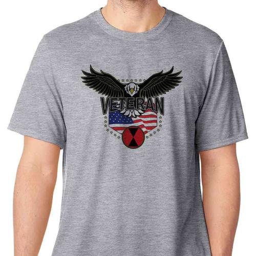 7th infantry division w eagle basic grey tshirt
