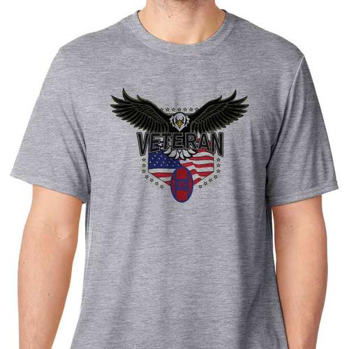 30th infantry division w eagle basic grey tshirt