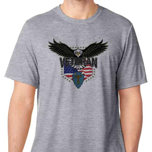36th infantry division w eagle basic grey tshirt