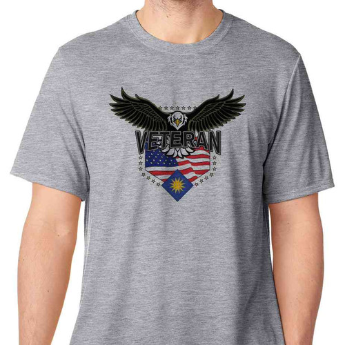 40th infantry division w eagle basic grey t shirt