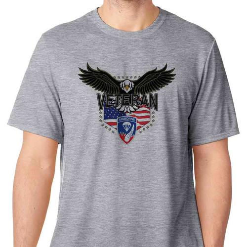 187th infantry w eagle basic grey t shirt