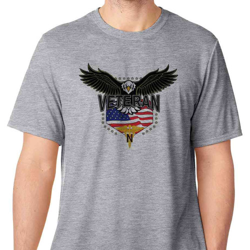 army nurse corps w eagle basic grey t shirt