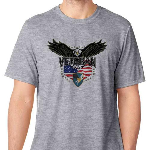 army security agency w eagle basic grey t shirt