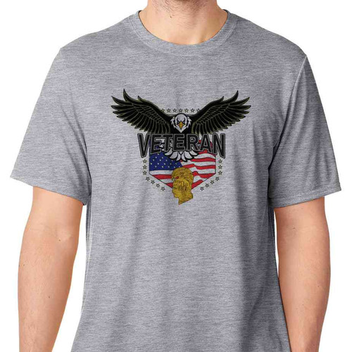 womens army corps eagle basic grey t shirt