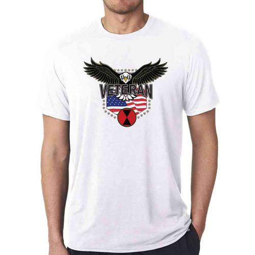 7th infantry division w eagle white tshirt