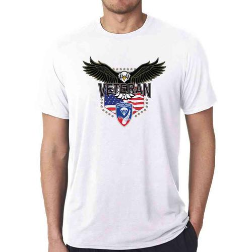 187th infantry w eagle white tshirt