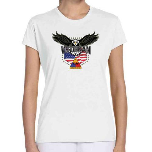 3rd armored division w eagle ladies white tshirt