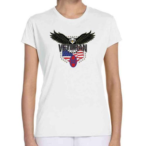 30th infantry division w eagle ladies white tshirt