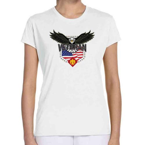 45th infantry brigade w eagle ladies white tshirt