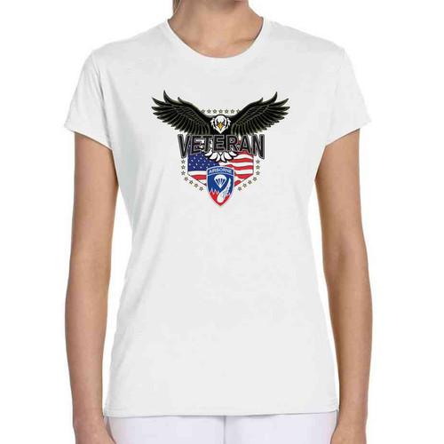 187th infantry w eagle ladies white tshirt