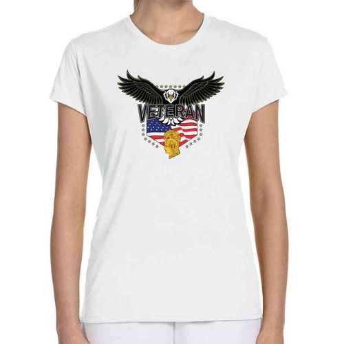 womens army corps eagle ladies white tshirt