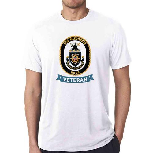 uss wisconsin veteran white tshirt