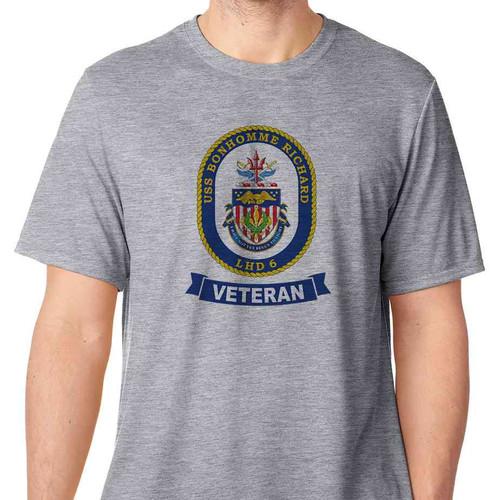 uss bonhomme richard veteran tshirt