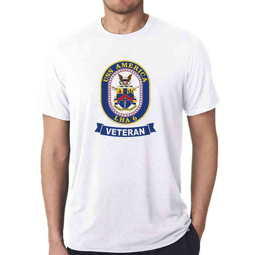 uss america veteran white tshirt