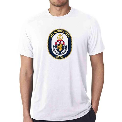 uss bunker hill white tshirt