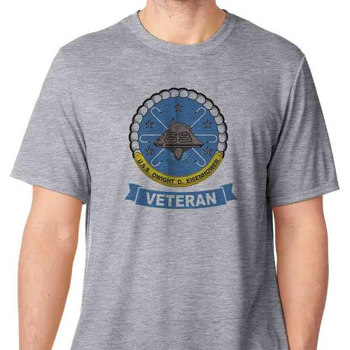 uss dwight d eisenhower veteran tshirt