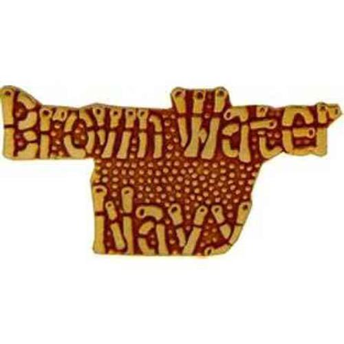 navy brown water navy hat lapel pin