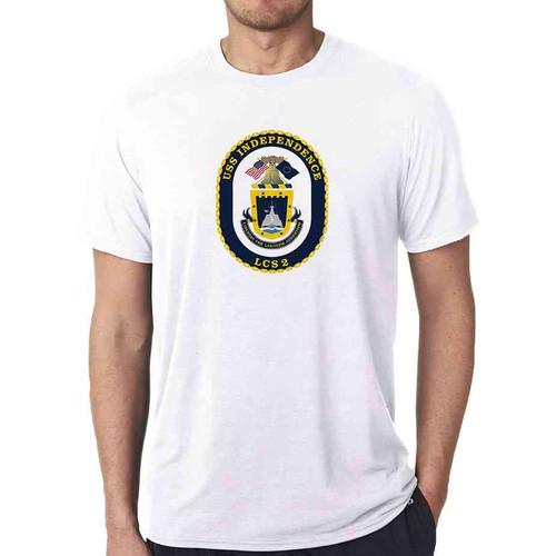 uss independence white tshirt