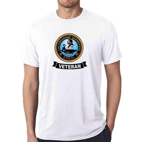 uss theodore roosevelt veteran white tshirt