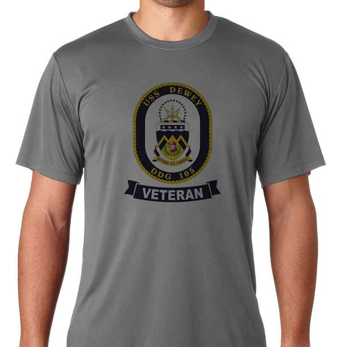 uss dewey veteran ss tshirt