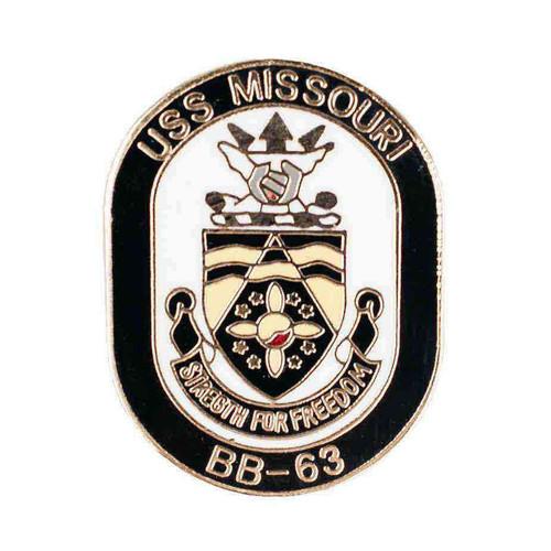 navy uss missouri hat lapel pin