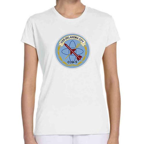 uss oklahoma city ladies white tshirt