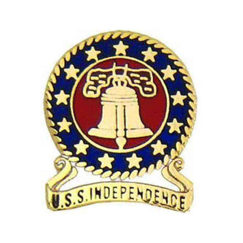 navy uss independence hat lapel pin