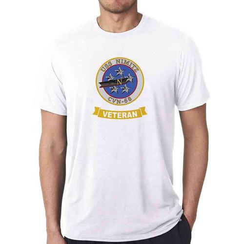 uss nimitz veteran white tshirt