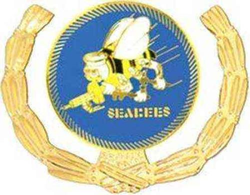 navy seabees hat lapel pin