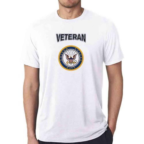 officially licensed u s navy gold emblem veteran white tshirt