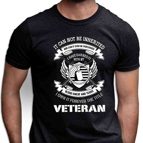 veteran i earned title special edition tshirt black