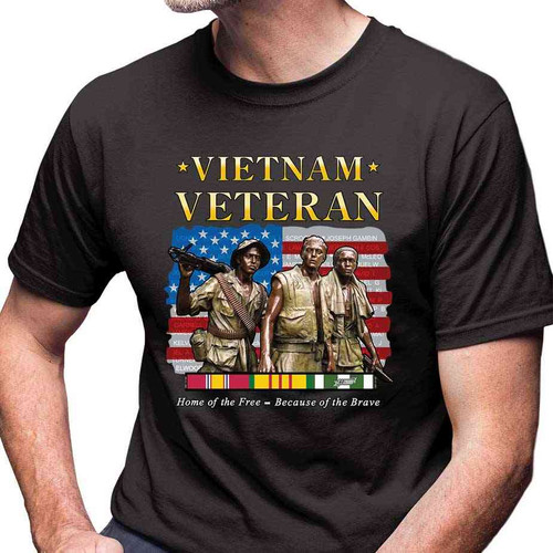 vietnam veteran home free because brave tshirt