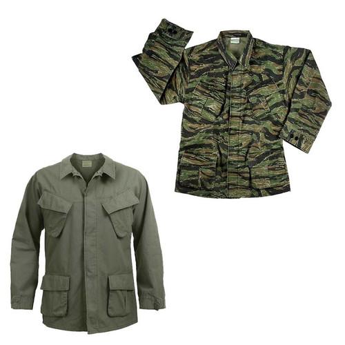 vintage vietnam era fatigue shirt o d or tiger