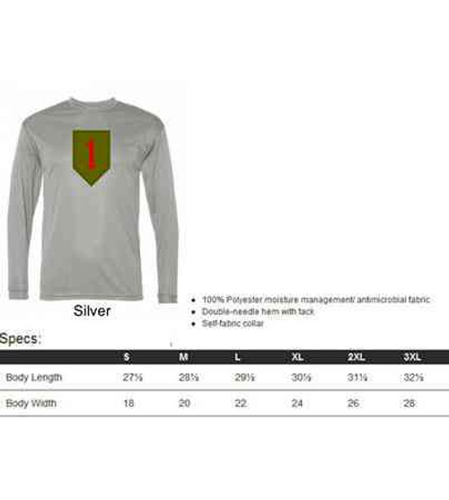 army 1st infantry division performance long sleeve shirt
