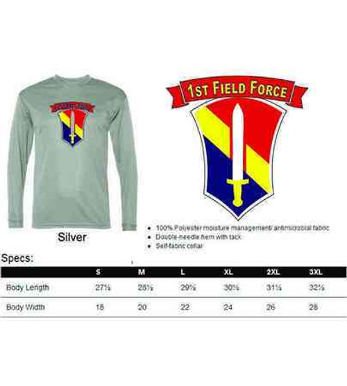 army 1st field force performance long sleeve shirt