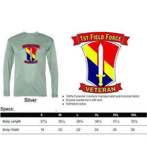 army 1st field force veteran performance long sleeve shirt