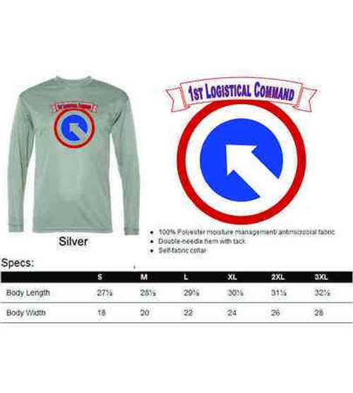 army 1st logistical command performance long sleeve shirt