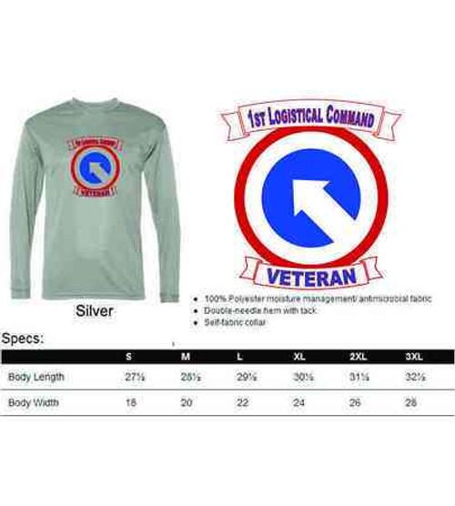army 1st logistical command veteran performance long sleeve shirt