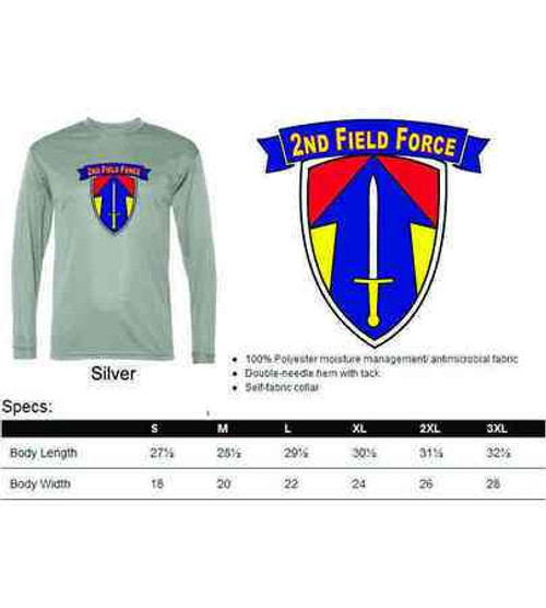 army 2nd field force performance long sleeve shirt