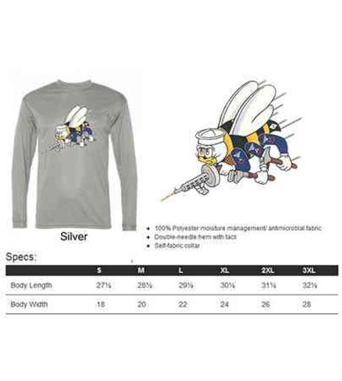 navy seabees performance long sleeve shirt