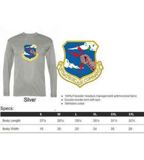 air force strategic air command performance long sleeve shirt