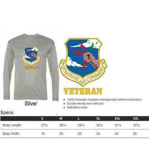 air force strategic air command veteran performance long sleeve shirt