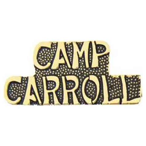 camp carroll hat lapel pin