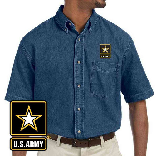 the officially licensed u s army embroidered denim shirt