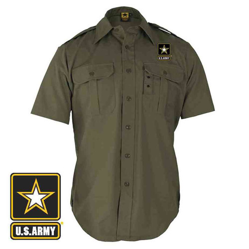 officially licensed u s army logo tactical dress shirt